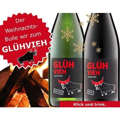 Metzger Winzer weisser Glühwein GlühVieh