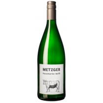 Metzger Hausmarke weiss halbtrocken 2017 1Liter - C -
